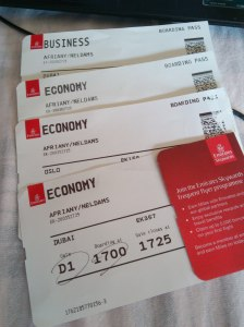 Emirates boarding passes